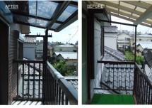 バルコニー屋根交換