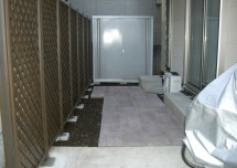 AFTER/タイル敷込み・ウッドフェンス設置